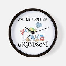 Stork New Grandson Wall Clock