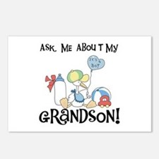 Stork New Grandson Postcards (Package of 8)