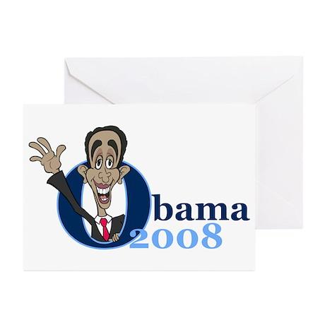 Cartoon Obama 2008 Greeting Cards (Pk of 20)