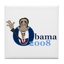 Cartoon Obama 2008 Tile Coaster