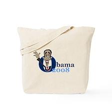 Cartoon Obama 2008 Tote Bag