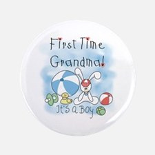 "Grandma Baby Boy 3.5"" Button"