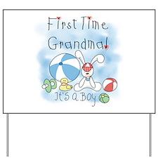 Grandma Baby Boy Yard Sign