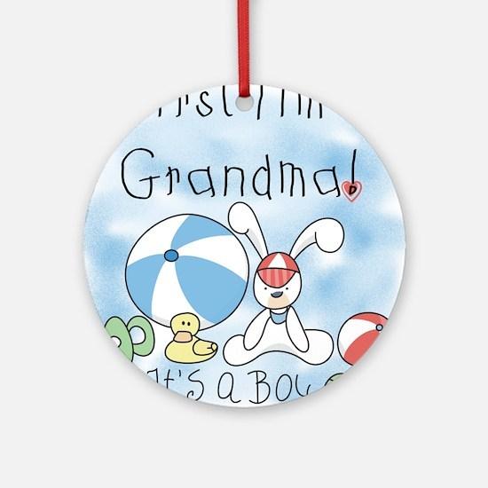 Grandma Baby Boy Ornament (Round)