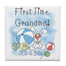 Grandma Baby Boy Tile Coaster