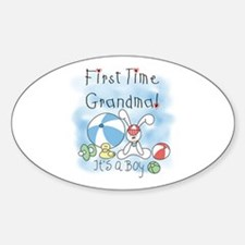 Grandma Baby Boy Oval Bumper Stickers