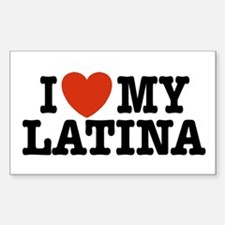 I love My Latina Rectangle Decal