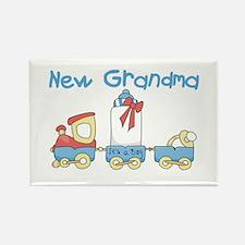 Train New Grandma Rectangle Magnet