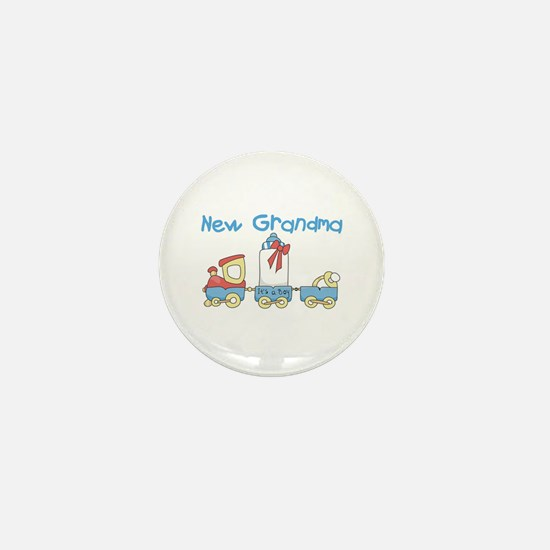 Train New Grandma Mini Button