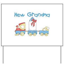Train New Grandma Yard Sign