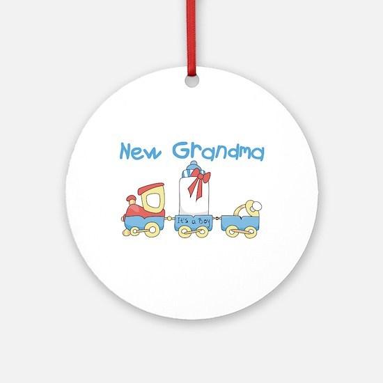 Train New Grandma Ornament (Round)