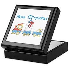 Train New Grandma Keepsake Box