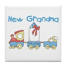 Train New Grandma Tile Coaster