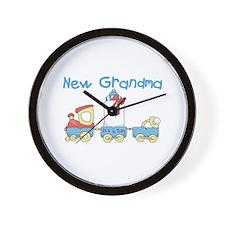 Train New Grandma Wall Clock