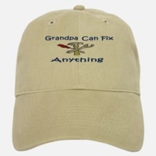 Grandpa Can Fix Anything Baseball Baseball Cap