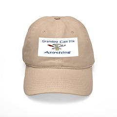 Grandpa Can Fix Anything Baseball Cap