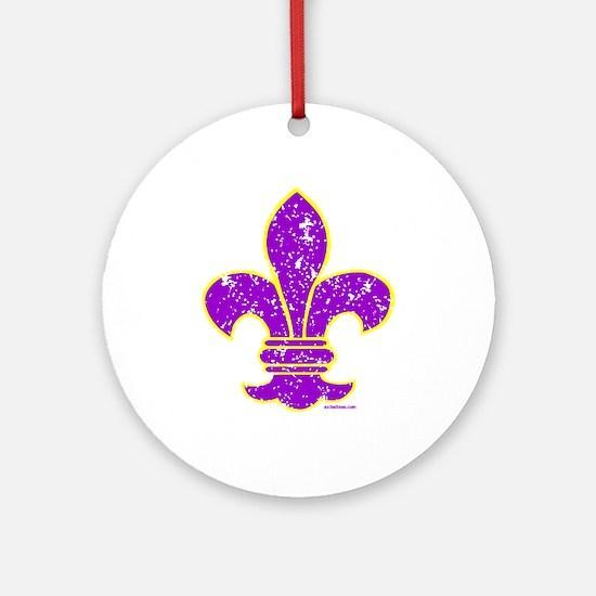 FLEUR DE LI Ornament (Round)