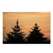 trees in sunset Postcards (Package of 8)