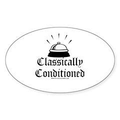 Classically Conditioned Oval Sticker (10 pk)