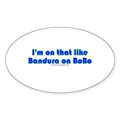 Bandura on Bobo Oval Sticker (10 pk)