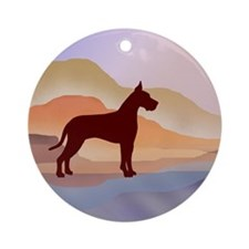 Mountain Mirage Great Dane Ornament (Round)