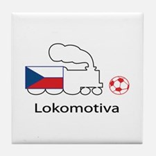 "Whooligan Czech ""Lokomotiva"" Tile Coaster"