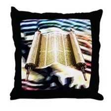 Torah's Song Throw Pillow