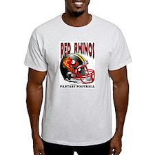 Red Rhinos Fantasy Football Ash Grey T-Shirt