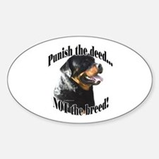 Rottweiler Anti-BSL 3 Oval Decal