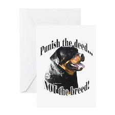 Rottweiler Anti-BSL 3 Greeting Card