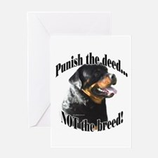 Rottweiler Anti-BSL 3 Greeting Card