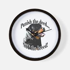 Rottweiler Anti-BSL 3 Wall Clock