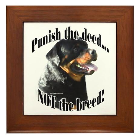 Rottweiler Anti-BSL 3 Framed Tile