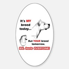 Dogo BSL2 Oval Decal