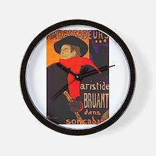 Aristide Bruant Wall Clock