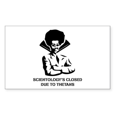 Scientology's Closed Rectangle Sticker