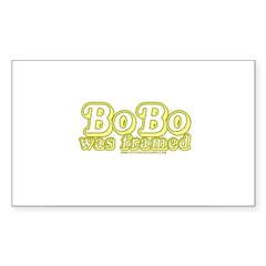 Bobo Was Framed Rectangle Sticker 50 pk)