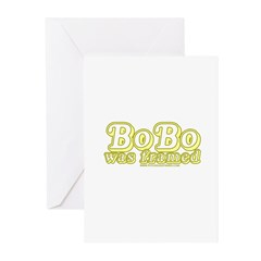 Bobo Was Framed Greeting Cards (Pk of 20)