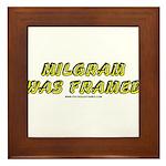 Milgram Was Framed Framed Tile