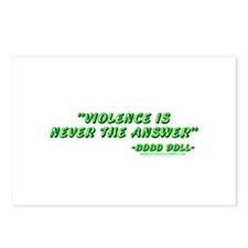 Violence Is Never The Answer Postcards (Package of