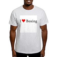 I Love Boxing Ash Grey T-Shirt