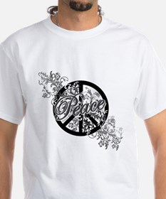Peace Sign Filigree Art Shirt