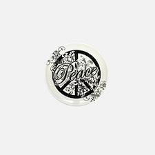 Peace Sign Filigree Art Mini Button