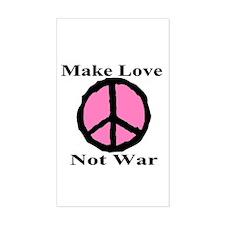 Make Love Not War Rectangle Decal
