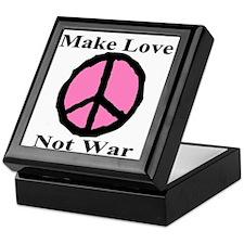 Make Love Not War Keepsake Box