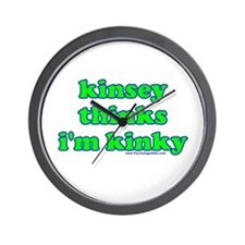 Kinsey Thinks I'm Kinky Wall Clock