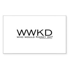 Who Would Kinsey Do? Rectangle Decal
