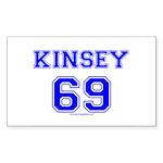Kinsey Jersey Rectangle Sticker