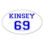 Kinsey Jersey Oval Sticker (10 pk)