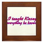 I Taught Kinsey Framed Tile